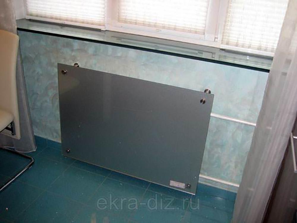 Декоративные панели на батарею отопления из стекла