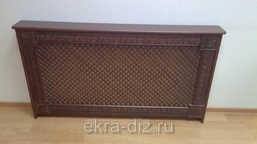 Деревянный экран для батареи отопления серия «Массив» 8