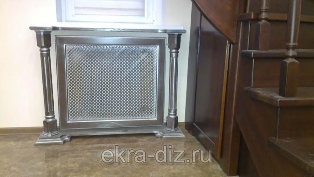 Деревянный экран для батареи отопления серия «Массив» 9