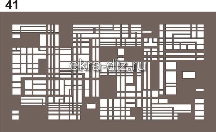 Виды узоров для экранов батарей с лазерной резкой 13