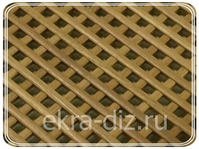 Деревянная решетка для батареи отопления серия «Массив» 4
