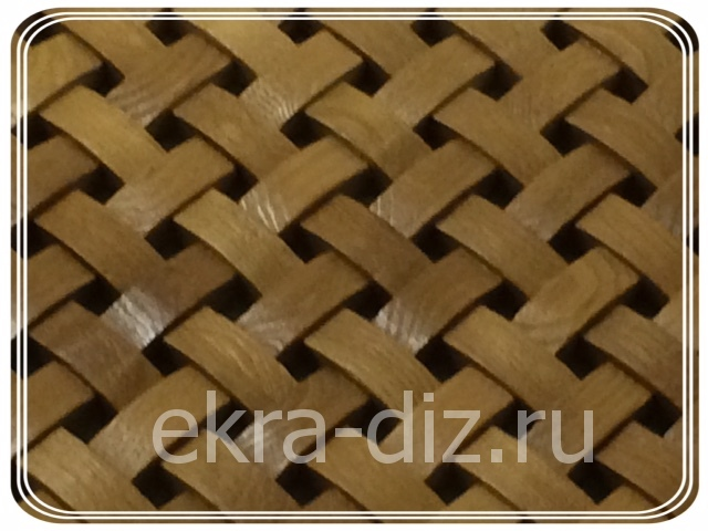 Деревянная решетка для батареи отопления серия «Массив» 5